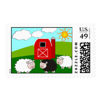 Sheep Farm Postage Stamps Sello