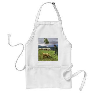 Sheep farmer adult apron