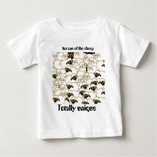 sheep flock black and white baby T-Shirt