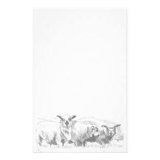 Sheep Flock Drawing Stationery
