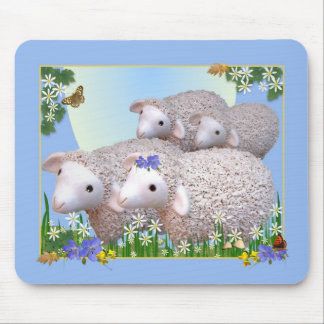 SHEEP FLOCK Mousemat Mouse Pad