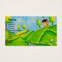 SHEEP FOLK ART PAINTING BUSINESS CARD