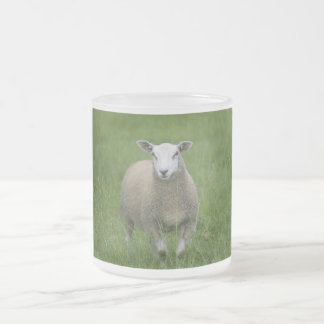 Sheep Frosted Glass Coffee Mug