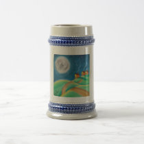 SHEEP FULL MOON FOLK ART BEER STEIN