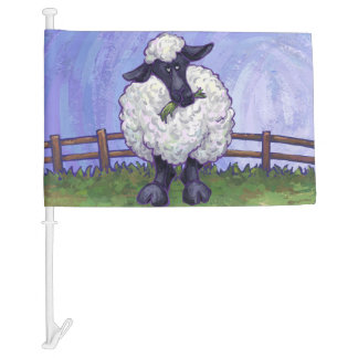 Sheep Gifts & Accessories Car Flag