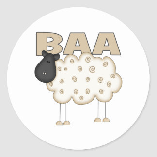 Sheep Gifts Classic Round Sticker