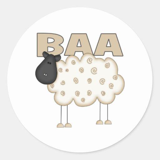 Sheep Gifts Classic Round Sticker