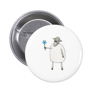 Sheep Giving a Flower. Pin