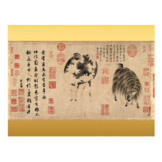 Sheep Goat Chinese New Year Zodiac Postcard