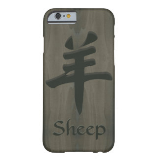 Sheep Goat Ram Yang Chinese Symbol Faux Wood Barely There iPhone 6 Case