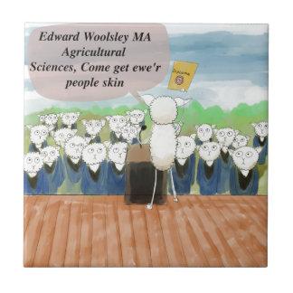 Sheep Graduation Day Funny Tile