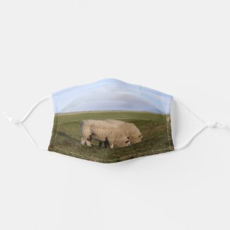 Sheep grass on North Sea Island Pellworm Cloth Face Mask