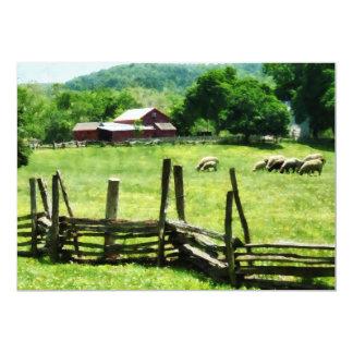 Sheep Grazing in Pasture Invite