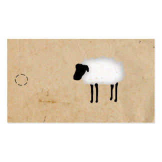 Sheep Hang Tag Business Card