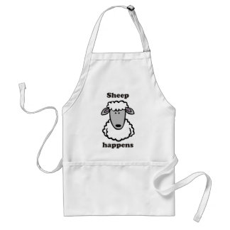 Sheep happens adult apron