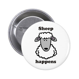 Sheep happens pinback buttons