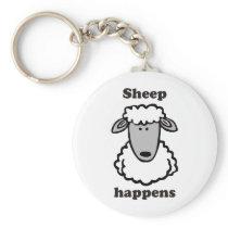 Sheep happens keychain