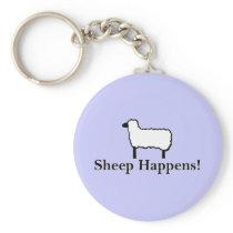 Sheep Happens! Keychain
