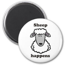 Sheep happens magnet