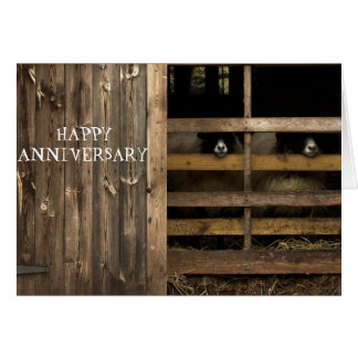 Sheep Happy Anniversary Card