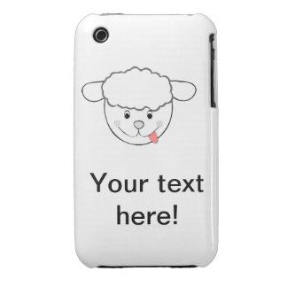 Sheep head cartoon Case-Mate iPhone 3 case