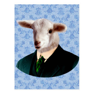 Sheep Head with Human Body Postcard