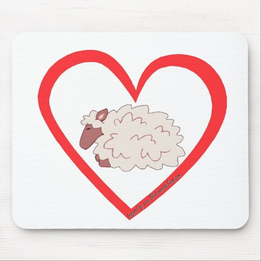 Sheep Heart Mouse Pads