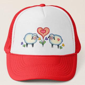 SHEEP & HEARTS by SHARON SHARPE Trucker Hat