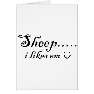 Sheep.....I likes em Card