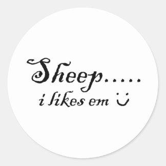 Sheep.....I likes em Classic Round Sticker
