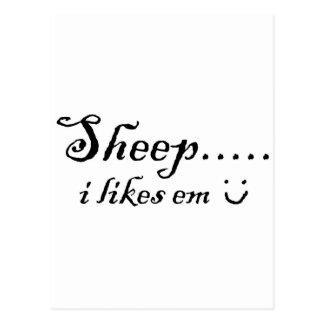 Sheep.....I likes em Postcard