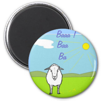 Sheep In A Field Magnet