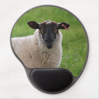 Sheep in a Grasss Field Gel Mouse Pad