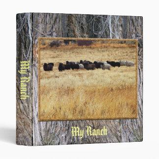 Sheep In Dry Grass Binder