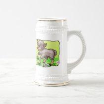 Sheep In Flowers Beer Stein
