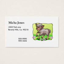 Sheep In Flowers Business Card
