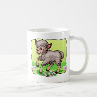 Sheep In Flowers Coffee Mug