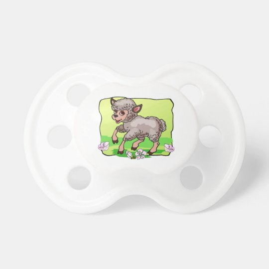 Sheep In Flowers Pacifier