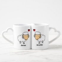 Sheep In Love Personalized Coffee Mug Set