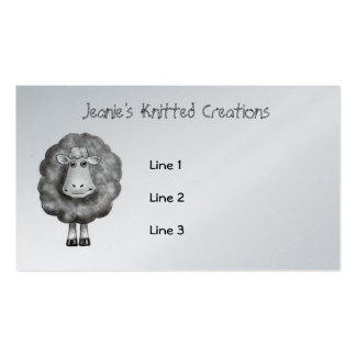 SHEEP in Pencil: Knitter, Crafter, Wool Business Card Template