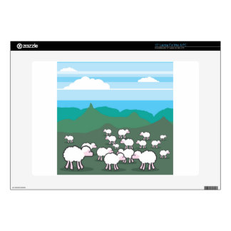 "Sheep In the Field Vector 15"" Laptop Skin"