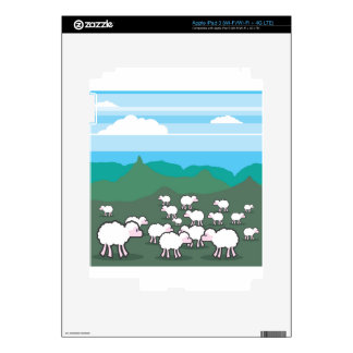 Sheep In the Field Vector Decals For iPad 3