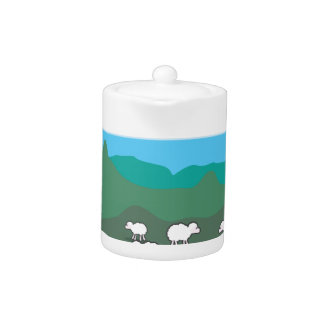 Sheep In the Field Vector Teapot