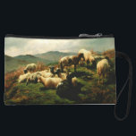 "Sheep in the Highlands 1856 Wristlet Wallet<br><div class=""desc"">Painting by Rosa Bonheur.</div>"
