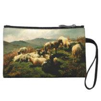 Sheep in the Highlands 1856 Wristlet Wallet
