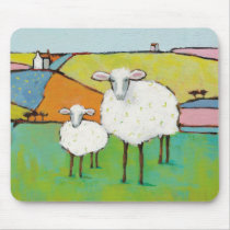Sheep in the Meadow Mouse Pad