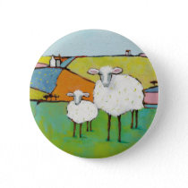 Sheep in the Meadow Pinback Button