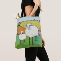 Sheep in the Meadow Tote Bag