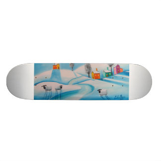 SHEEP IN THE SNOW SKATEBOARD DECK