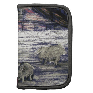 Sheep in winter folio planners
